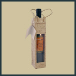 Gift Tote - Tall Single with Window - Natural