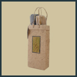 Gift Tote - Tall Double with Olive Relief - Natural